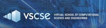 Virtual School of Computational Science and Engineering logo